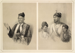 Annan Messee, a converted Hindoo.  The Rajah of Nahun and his two Sons